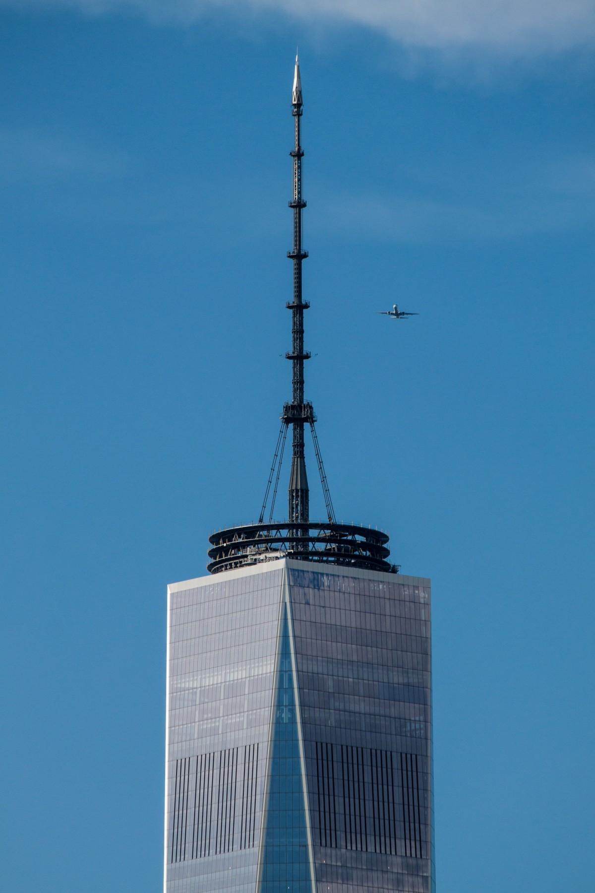 World Trade Center spire completion seen through the eyes ...  |World Trade Center Spire