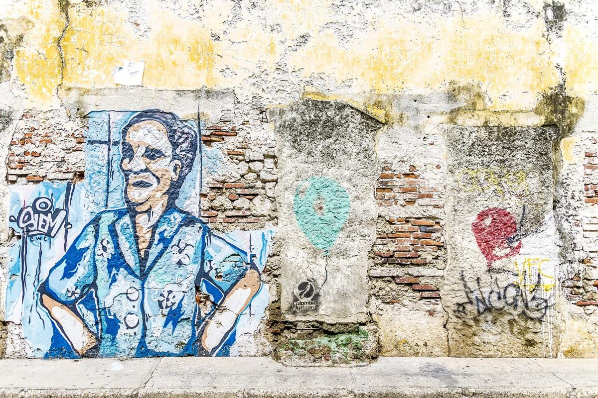 Graffiti art background - City Urban Wall Artistic Grunge Graffiti