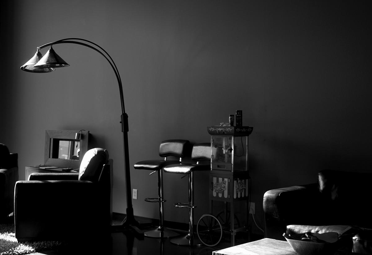 images gratuites lumi re noir et blanc obscurit salon meubles chambre monochrome. Black Bedroom Furniture Sets. Home Design Ideas