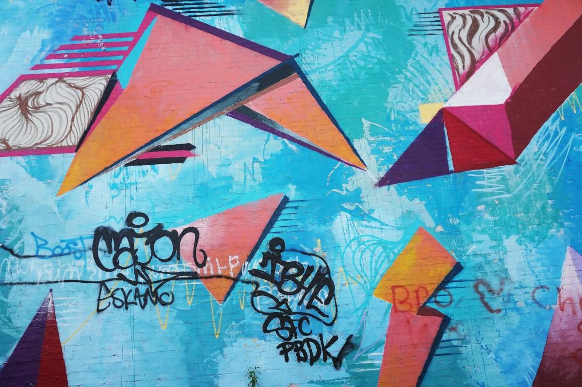 Free images purple pattern pink graffiti artwork for Airbrush mural painting