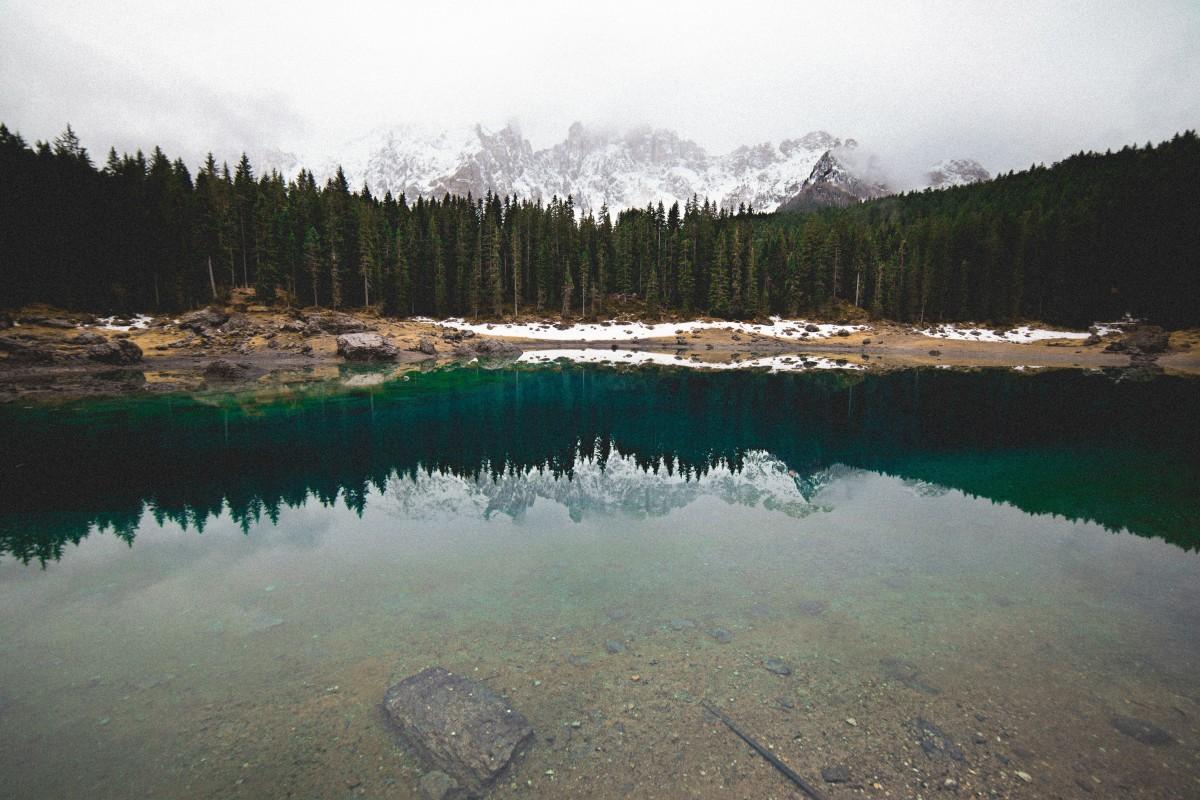 水, 自然, 森林, 荒野, 山, 雲, 湖, 池, 反射, 貯水池, 水域, ロッホ, クレーターレイク, 傷つける, 大気現象