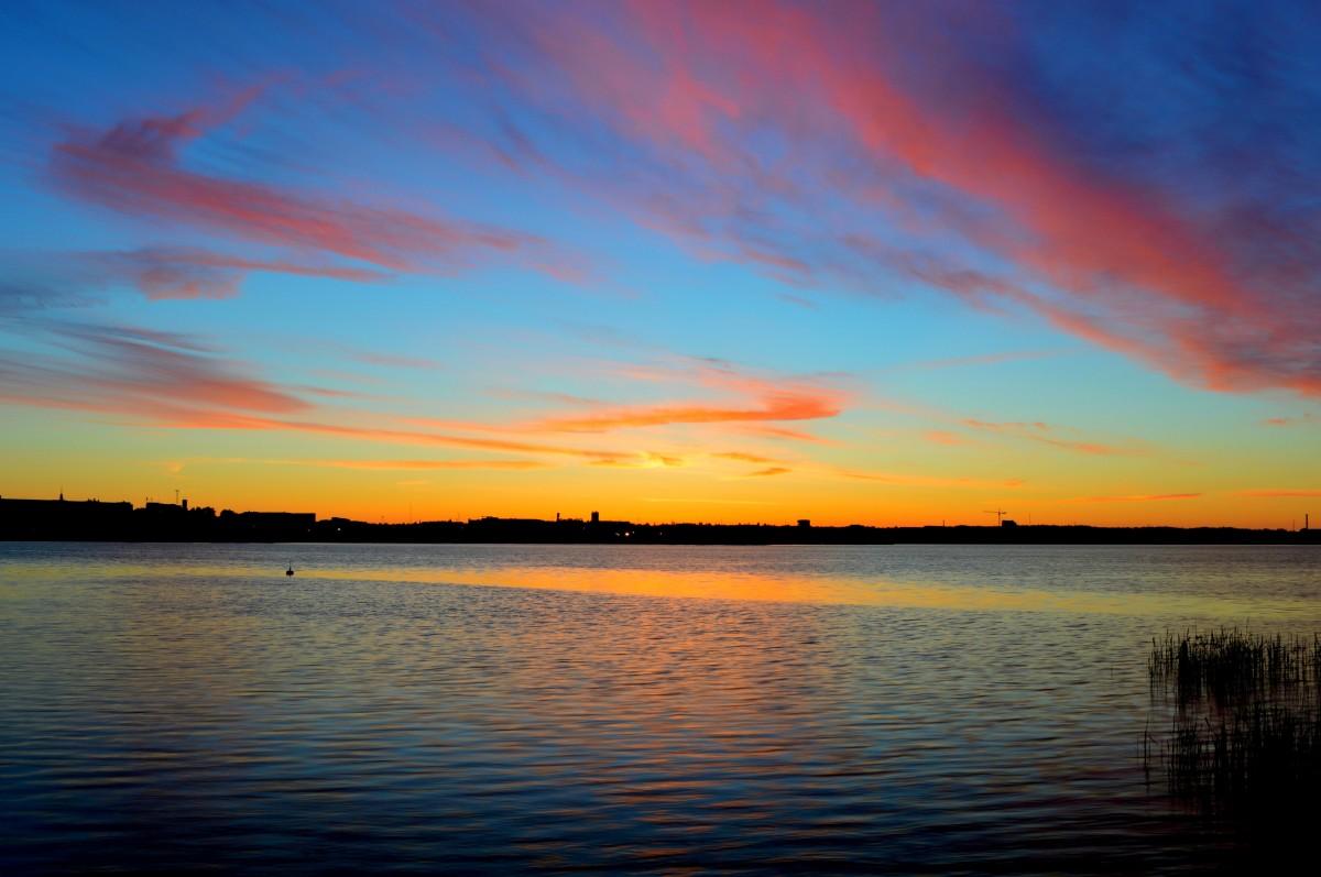 Free Images : landscape, water, horizon, sunrise, sunset ...