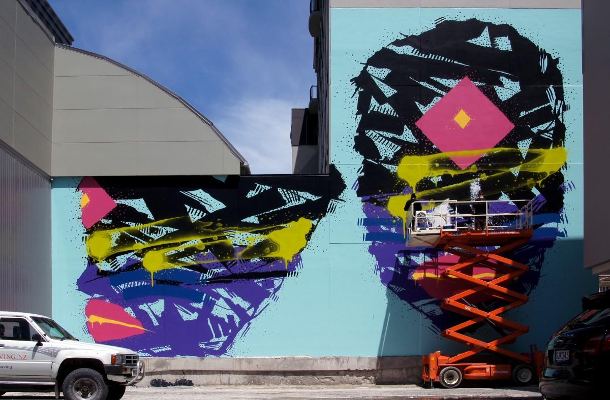 Graffiti wall christchurch - Street Advertising Color Graffiti Street Art Art