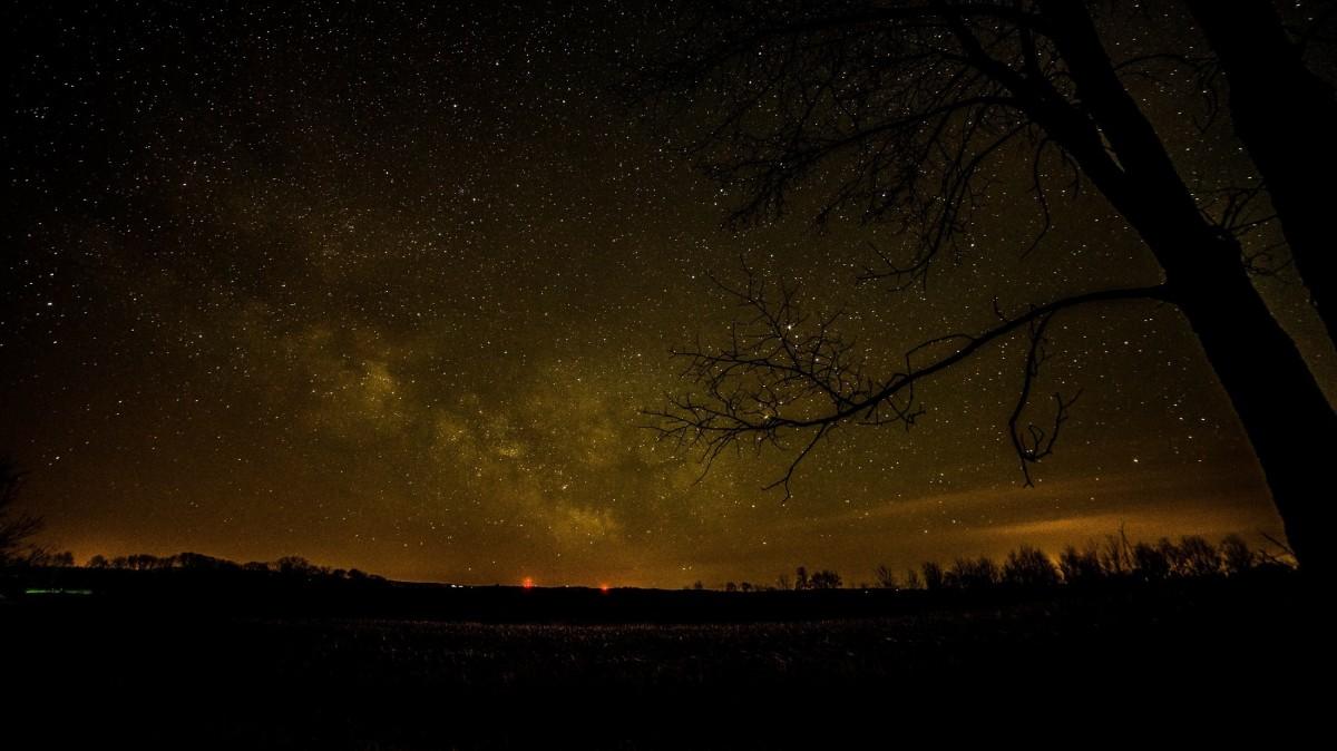 Gambar : langit, bintang, suasana, ruang, biru, galaksi