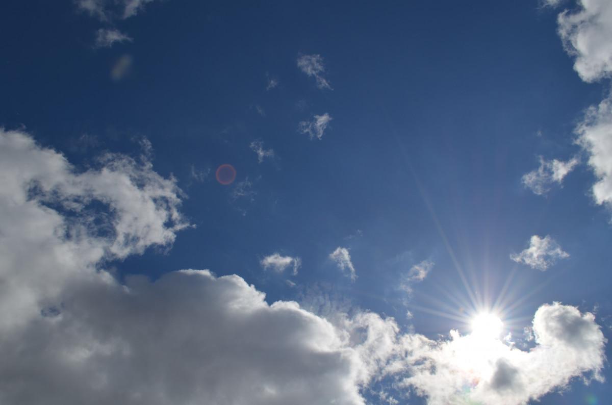 natur horisont ljus moln himmel solsken Sol solljus atmosfär sommar dagtid stackmoln blå värme moln dag meteorologiska fenomen jordens atmosfär