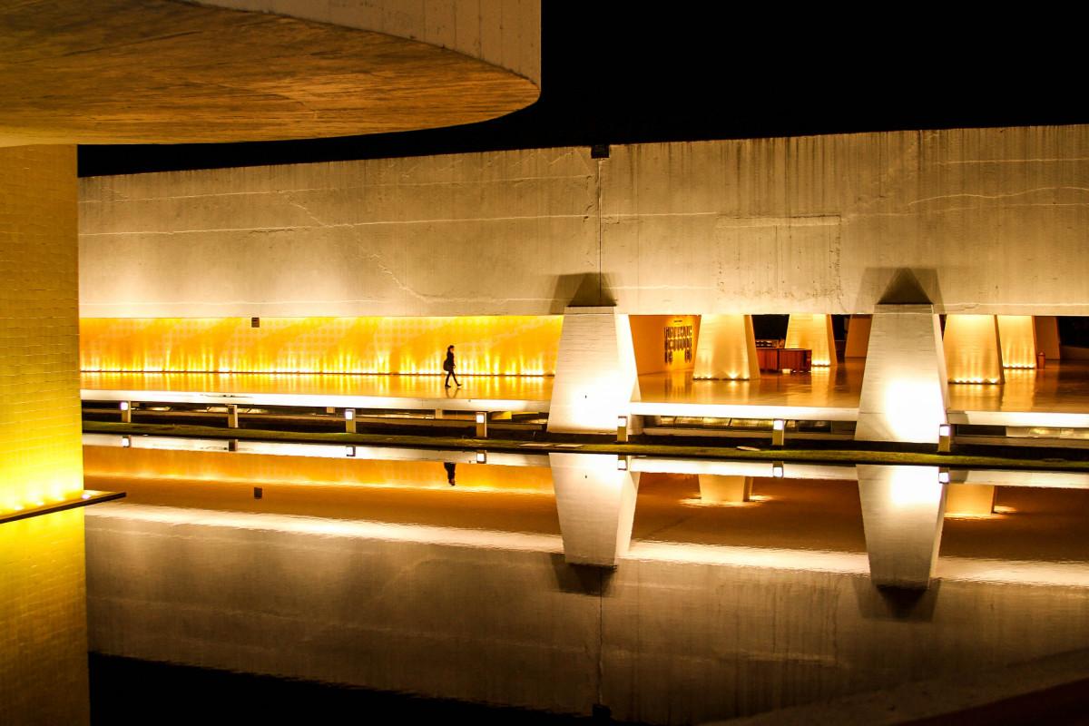 Fotos Gratis Ligero Arquitectura Noche Sala