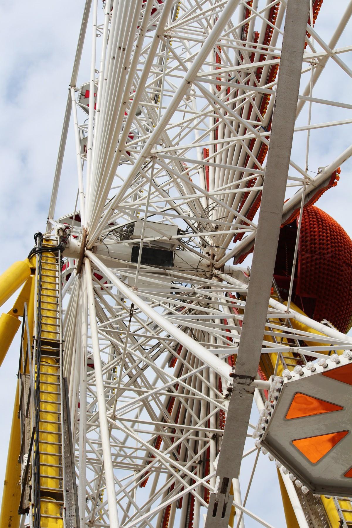 Free Images : sky, summer, ferris wheel, amusement park ...