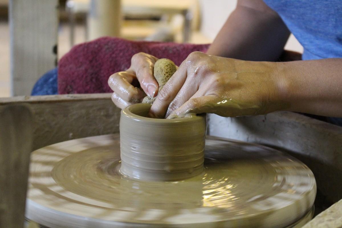 Free Images : hand, cup, vase, ceramic, artist, craft ...