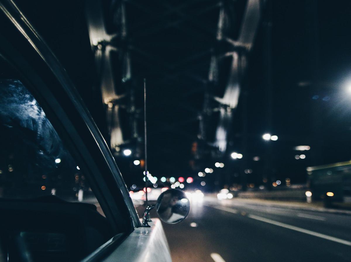 light, road, bridge, car, night, driving, city, darkness, lane, infrastructure
