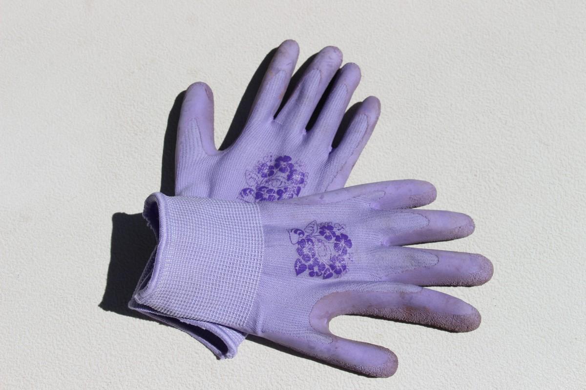 Fotos gratis mano guante p rpura patr n dedo sucio - Guantes de seguridad ...