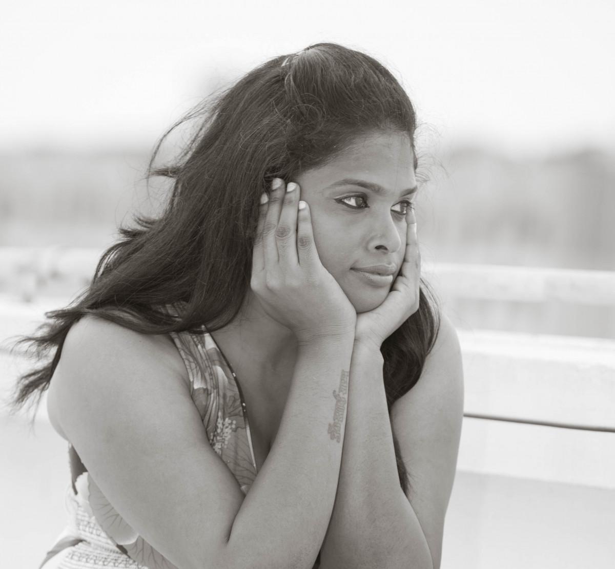 Images Gratuites : la personne, noir et blanc, fille, femme, la photographie, maquette ...