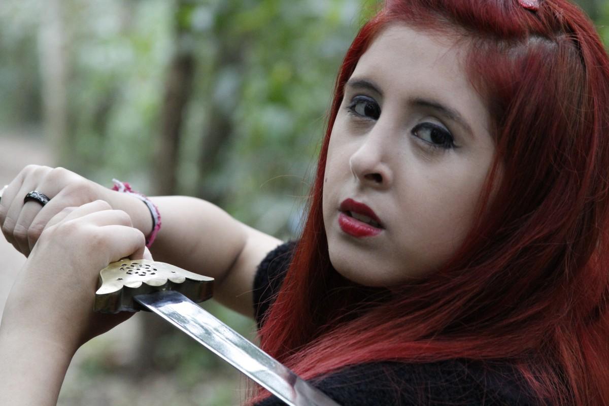 populär lady rött hår