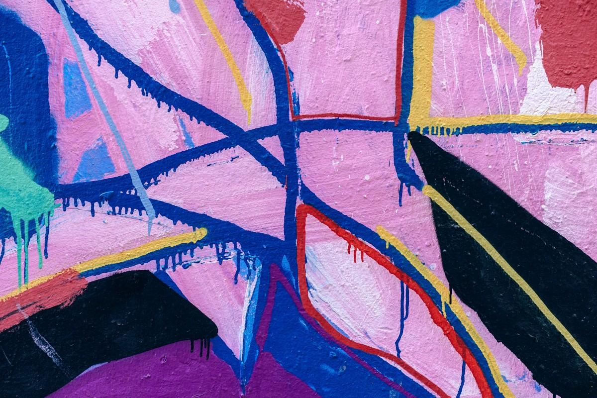 무료 이미지 : 푸른, 담홍색, 낙서, 삽화, 그림, 거리 미술, 세례반 ...