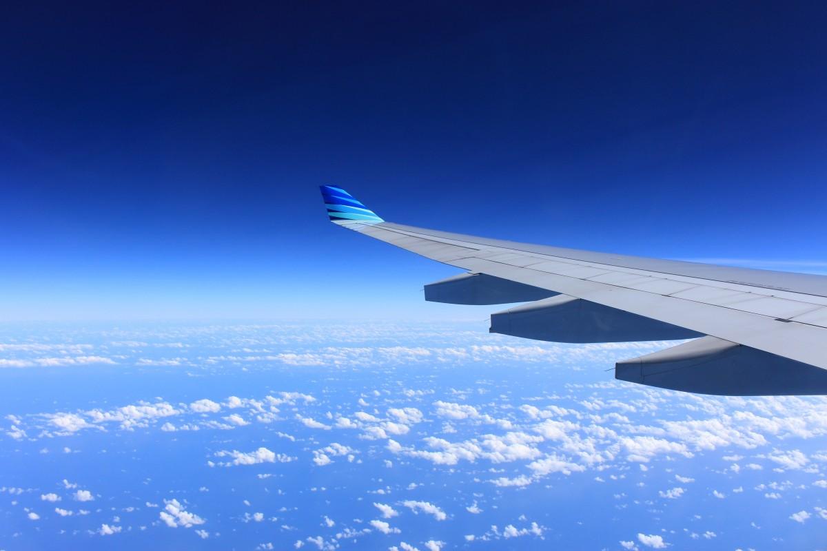 地平線 翼 空 雰囲気 飛行 飛行機 飛行機 航空機 車両 航空会社 航空 フライト 青 雲 飛行機 旅客機 ジェット機 空の旅 地球の雰囲気