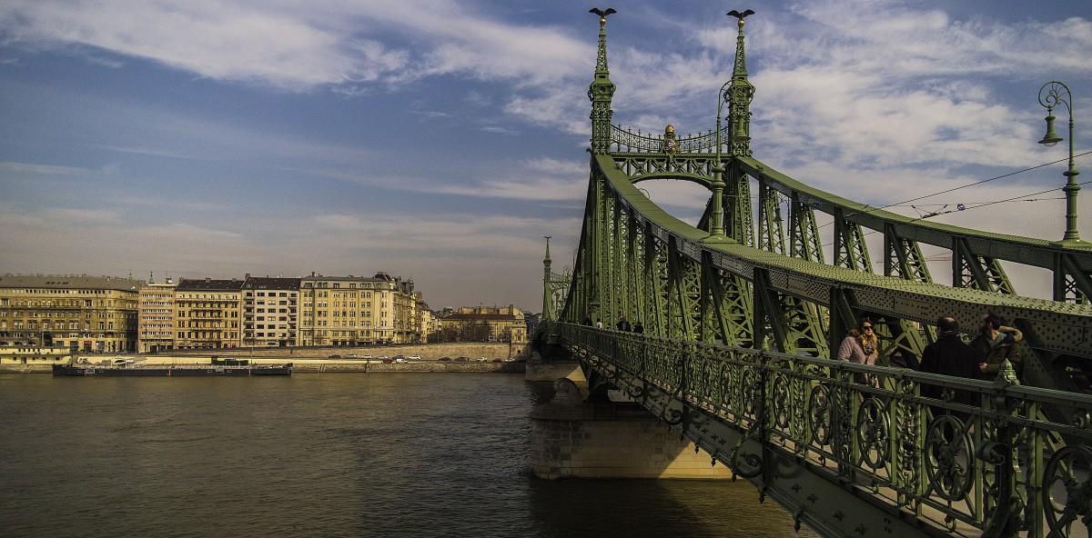 Fotos gratis paisaje cielo puesta de sol puente for Oficina turismo budapest