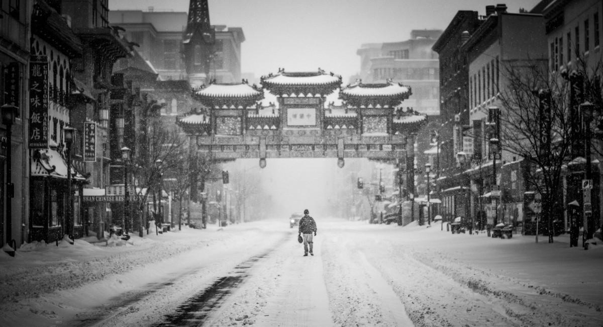 winter city lane with - photo #21