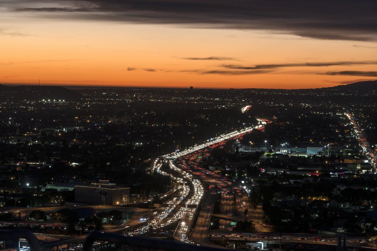 Night Flight >> Free Images : sky, night, dusk, hollywood, evening, usa, california, los angeles, atmosphere of ...