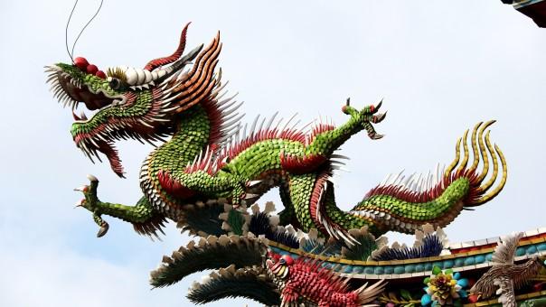 dragon,animal,long,temple,culture,dinosaur