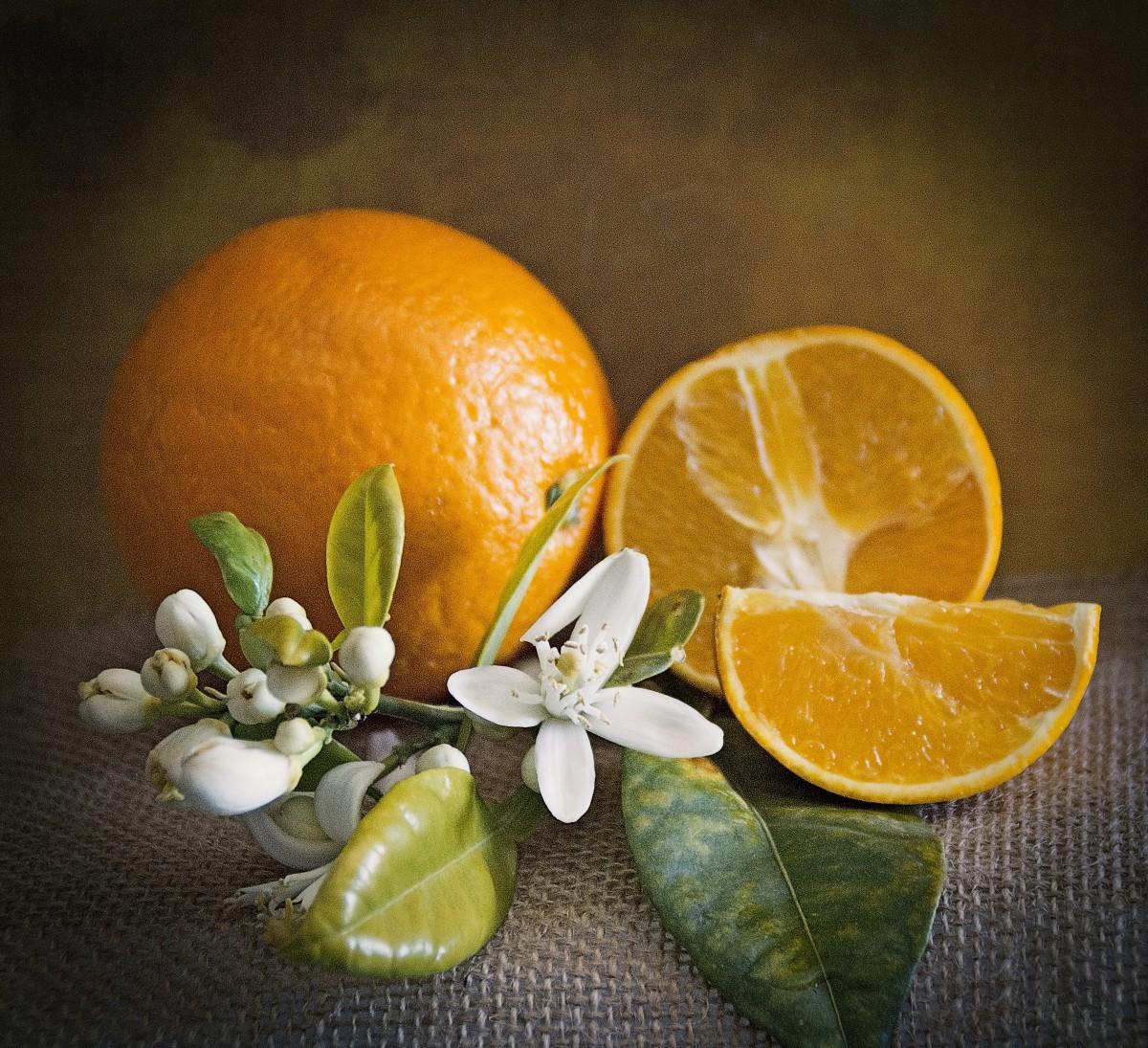 Открытку, картинки апельсины и цветы