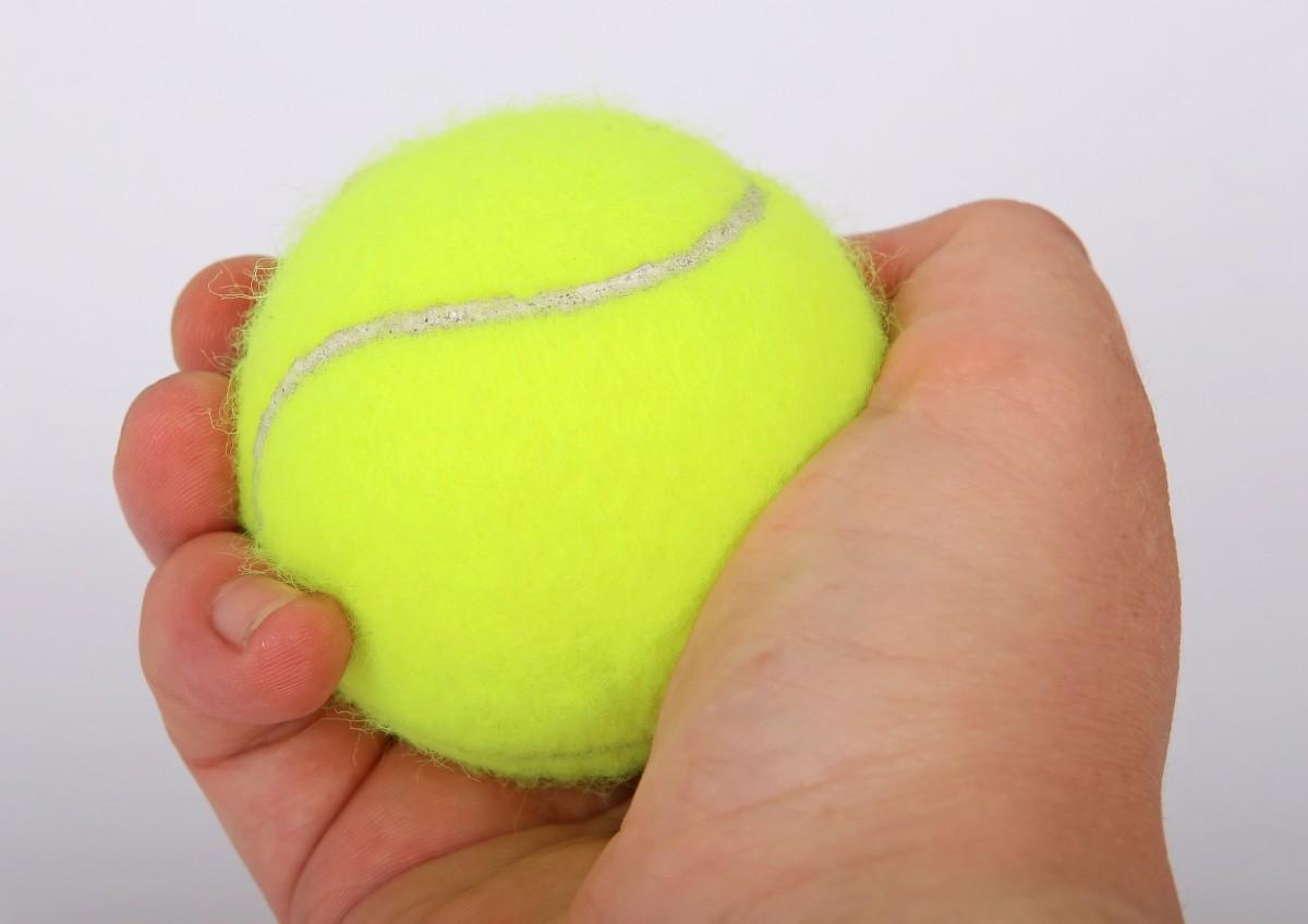 Balle de tennis de l'expérience