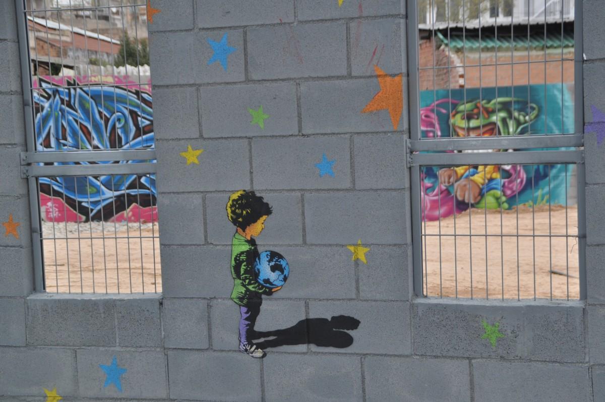 Graffiti wall barcelona - Street Wall Spray Color Graffiti Barcelona
