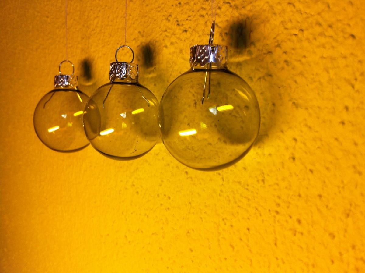 Christbaumkugeln Gelb.Kostenlose Foto Glas Metall Gelb Beleuchtung Material Kreis