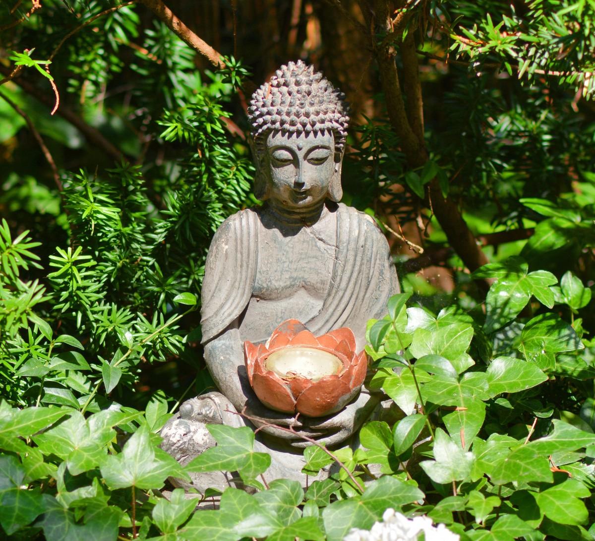 Kostenlose Foto Wasser Natur Wald Blume Monument Statue Grün