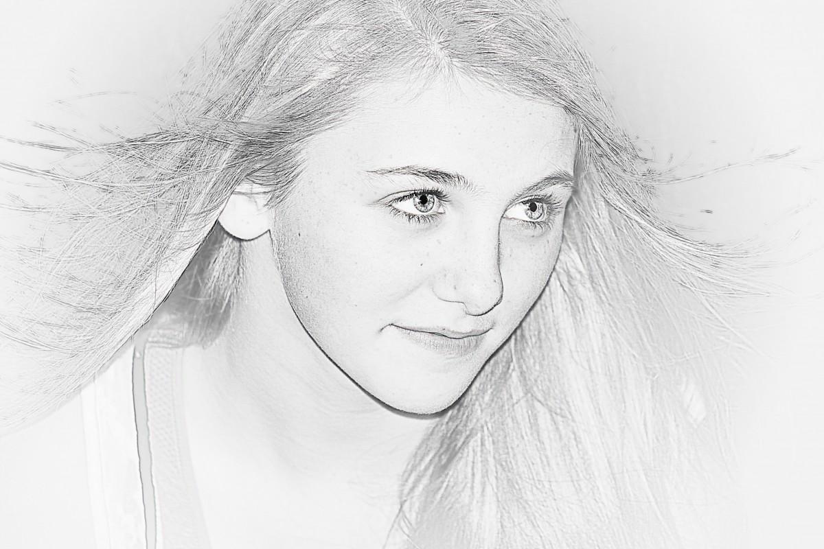 images gratuites noir et blanc fille la photographie femelle maquette jeune monochrome. Black Bedroom Furniture Sets. Home Design Ideas