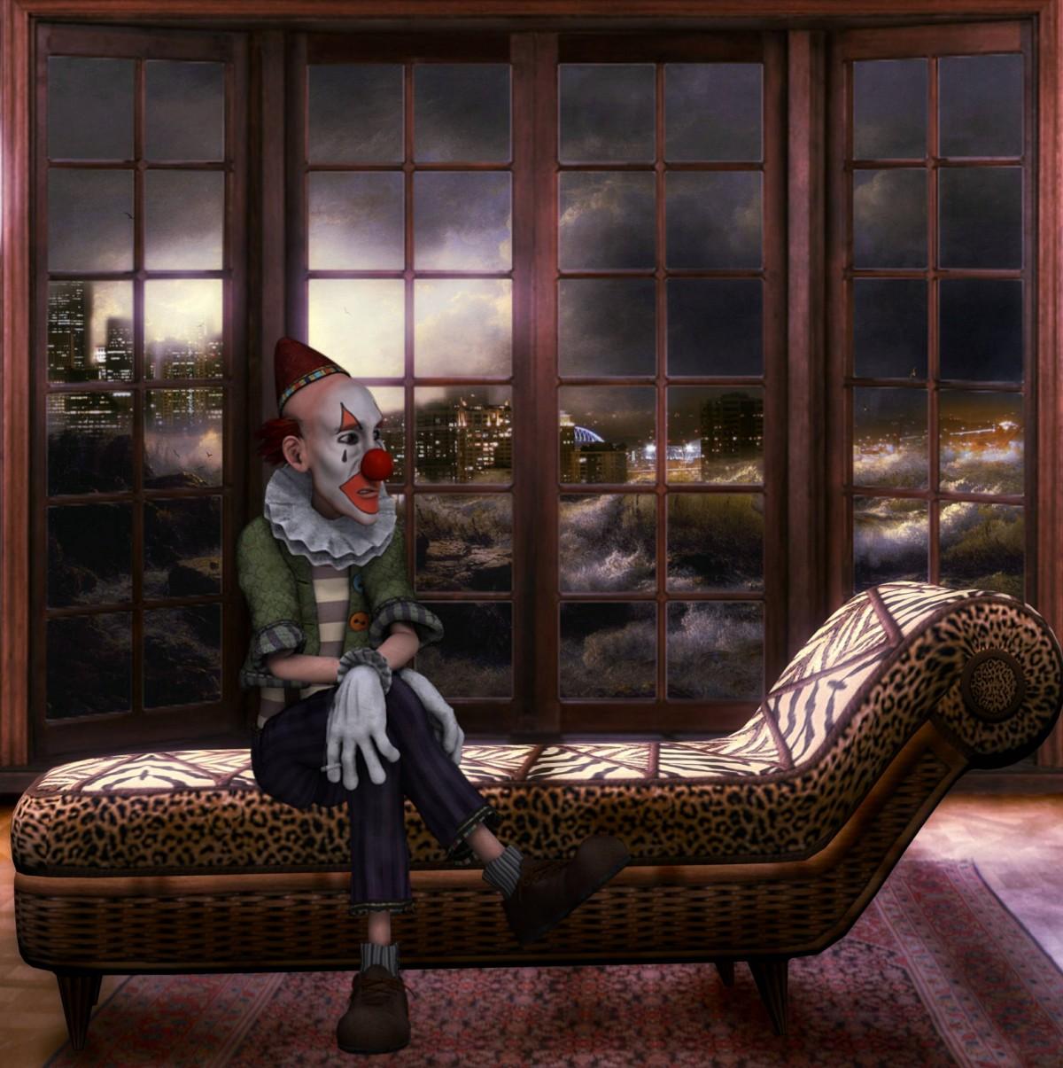 Holz Nacht Sessel Fenster Wohnzimmer Mbel