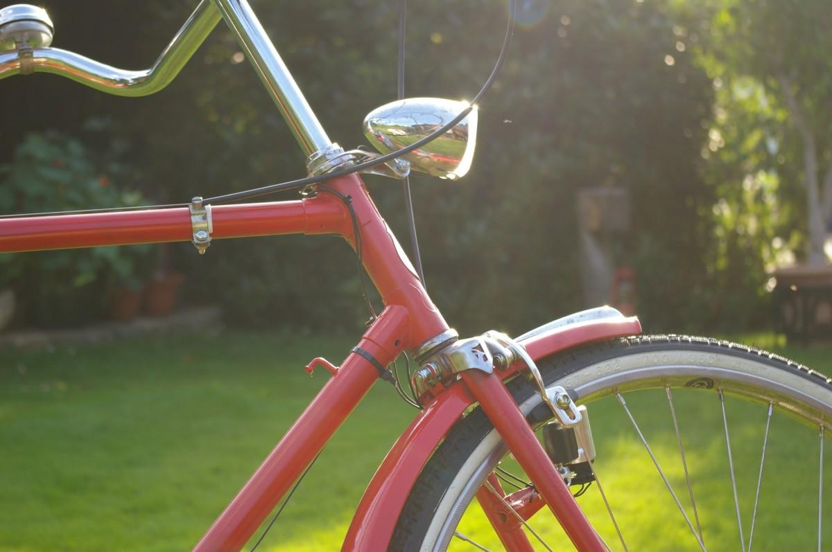 cái nĩa, Bánh xe, cũ, Xe đạp, xe đạp, Đỏ