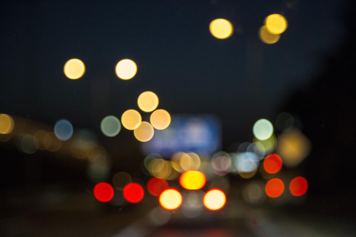 Light Bokeh Blur Night Flower Town