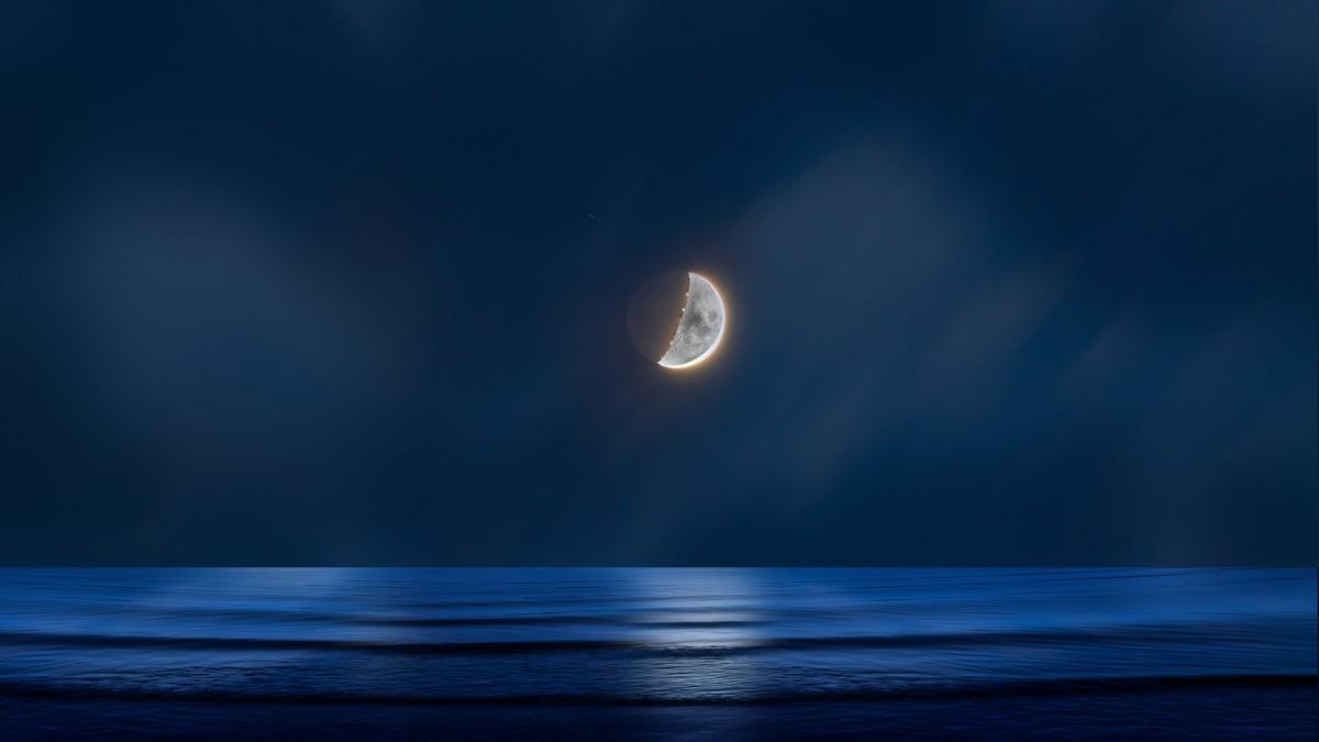 Gambar Air Cahaya Langit Malam Gelombang Suasana Refleksi