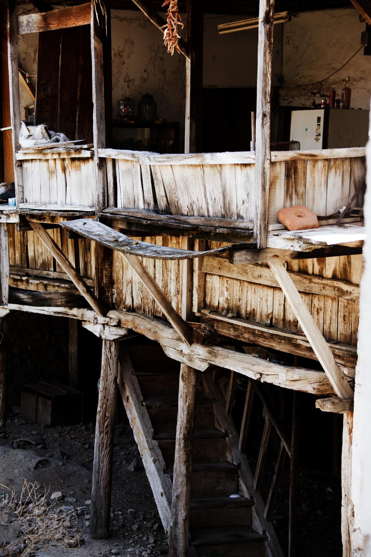 Images gratuites la nature structure escalier maison for Eclairage exterieur usine