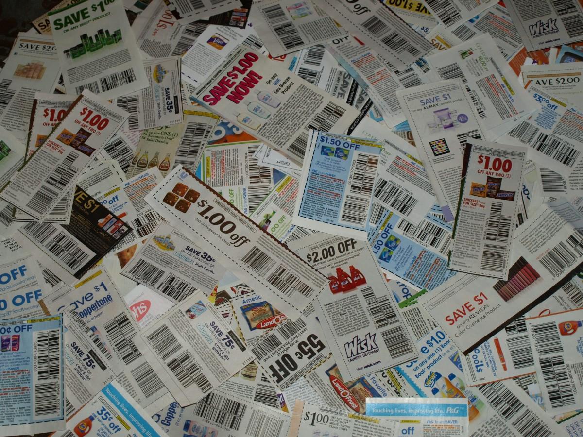 journal ligne argent achats papier en espèces devise dollar économie coupon billet de banque Coupons Codes promos code promo