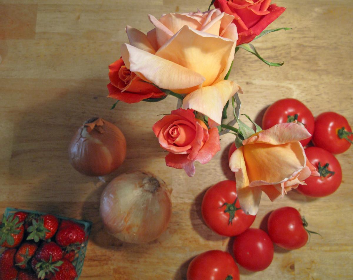 Красивые открытки еда и цветы, надписи картинках про