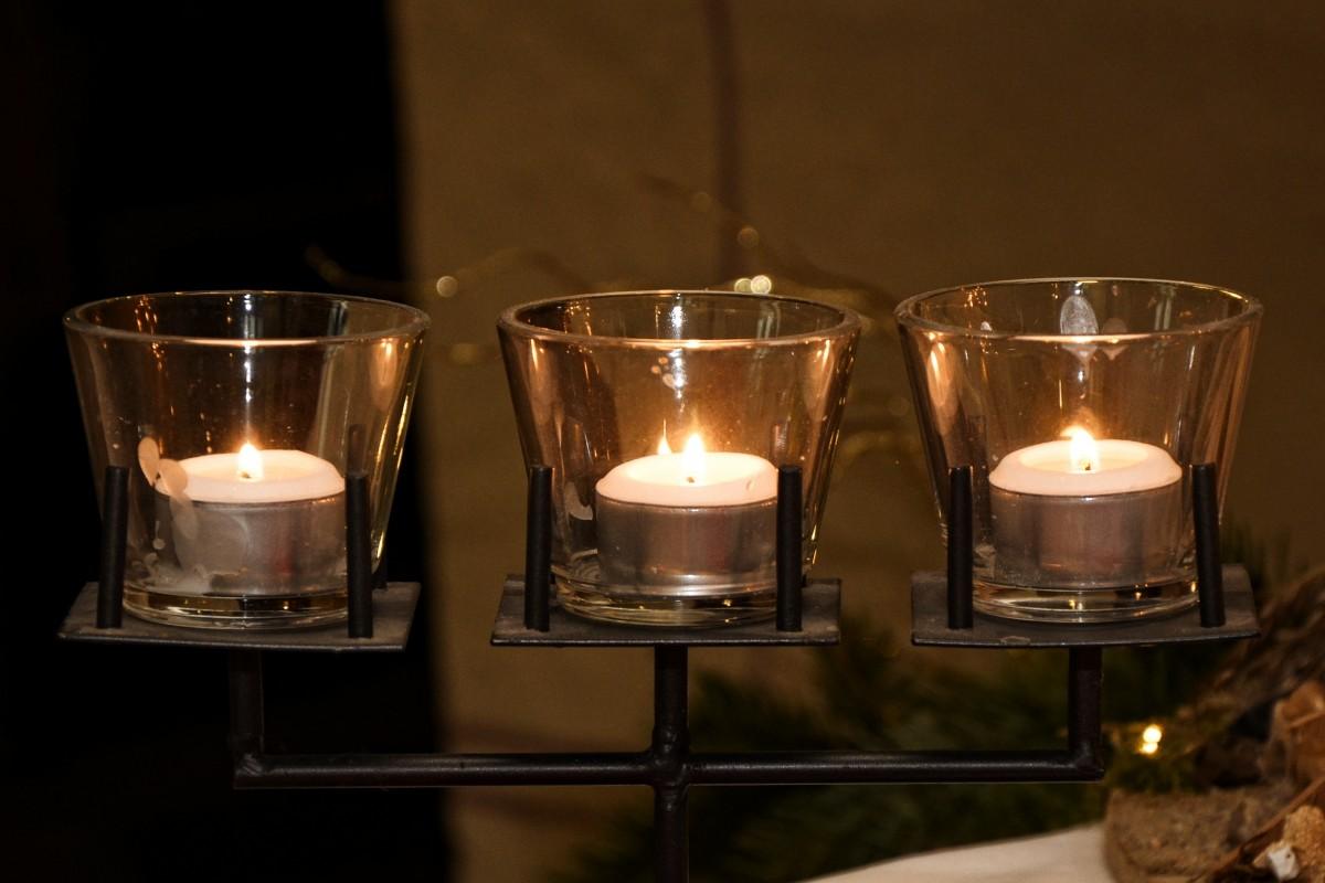 Kostenlose foto licht glas dekoration kerze - Dekoration advent ...