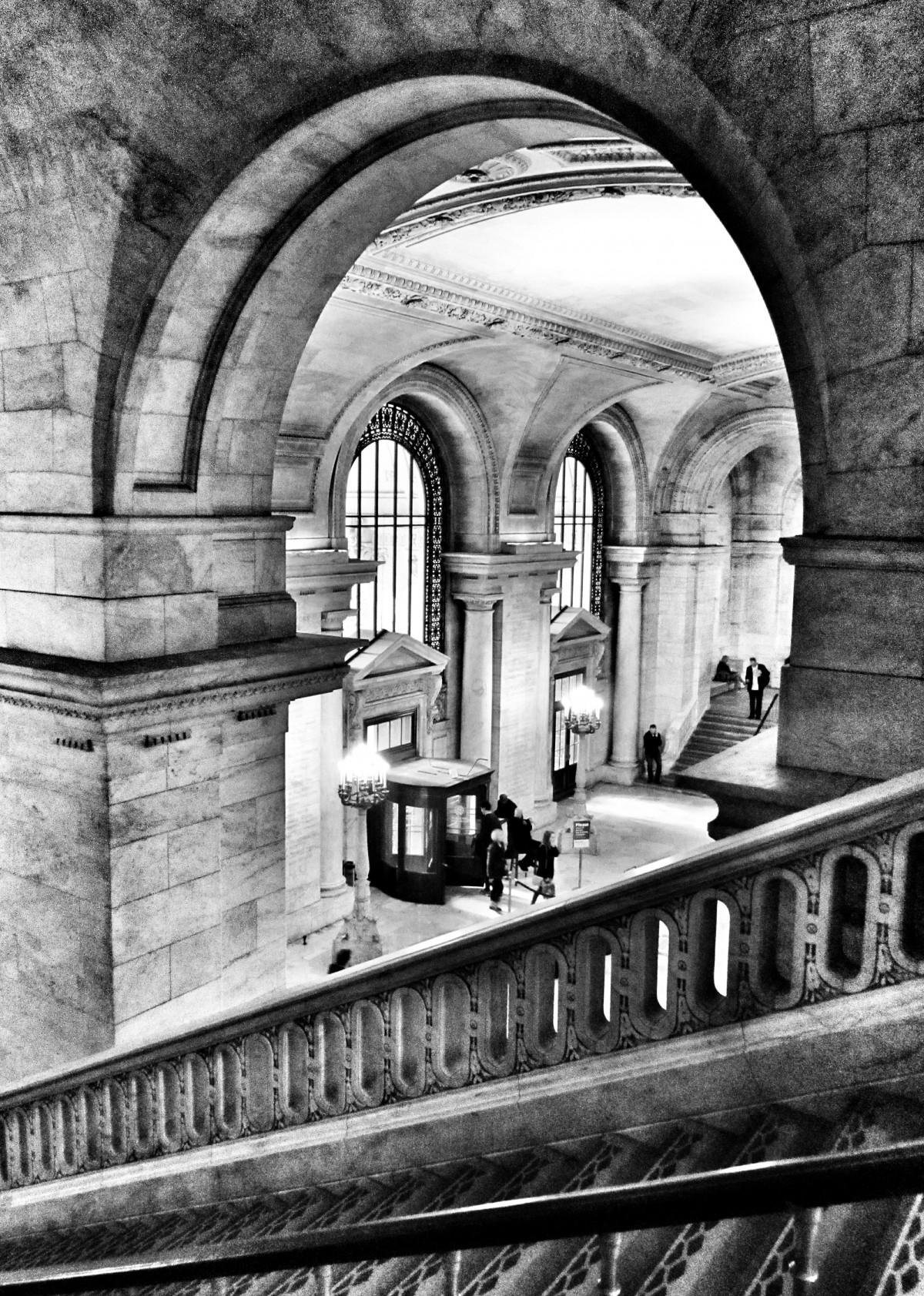 Foyer Architecture Library : Free fotobanka Černý a bílý architektura panství dům