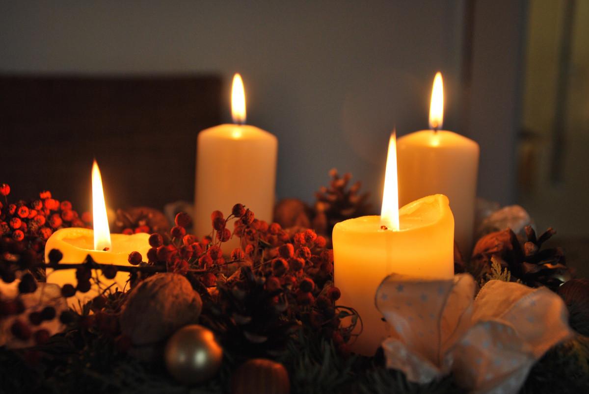 Free Images : holiday, candle, lighting, decor, christmas ...