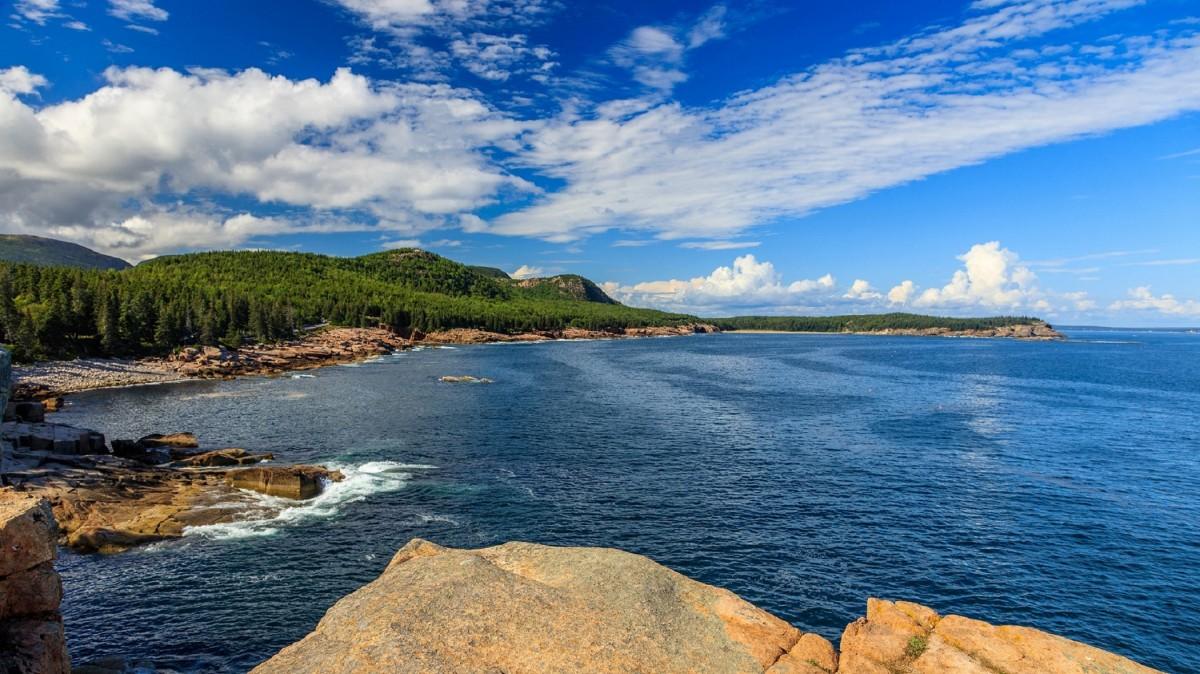 blue ocean clouds scenic - photo #11