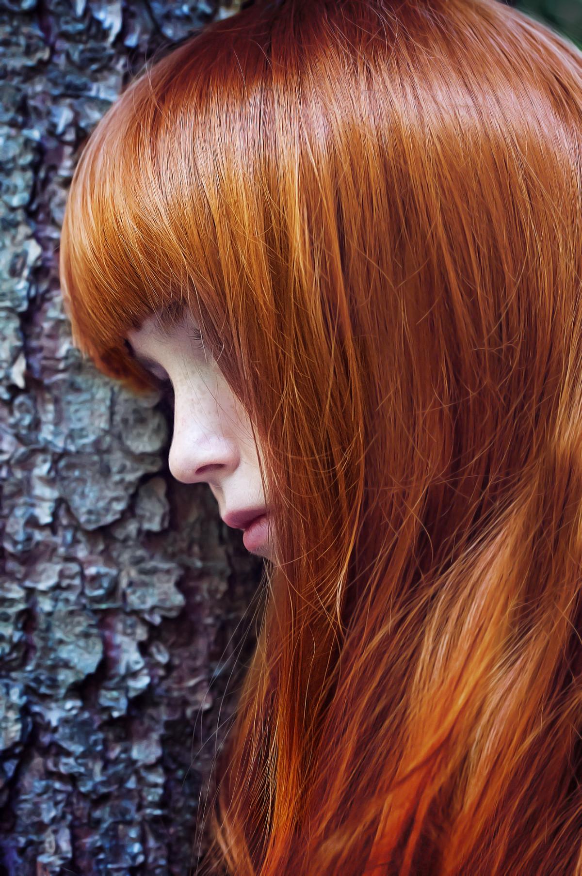 Kostenlose Foto Person Weiblich Porträt Rot Farbe Braun