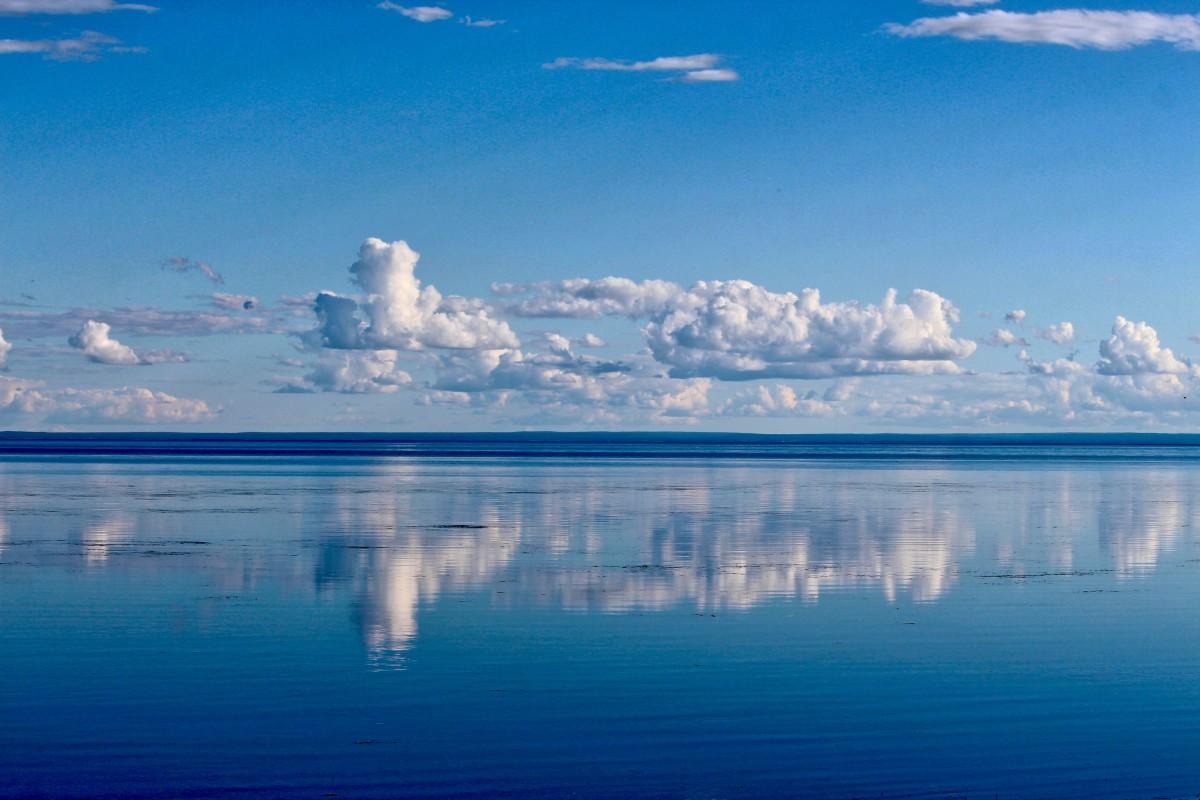 blue ocean clouds scenic - photo #42