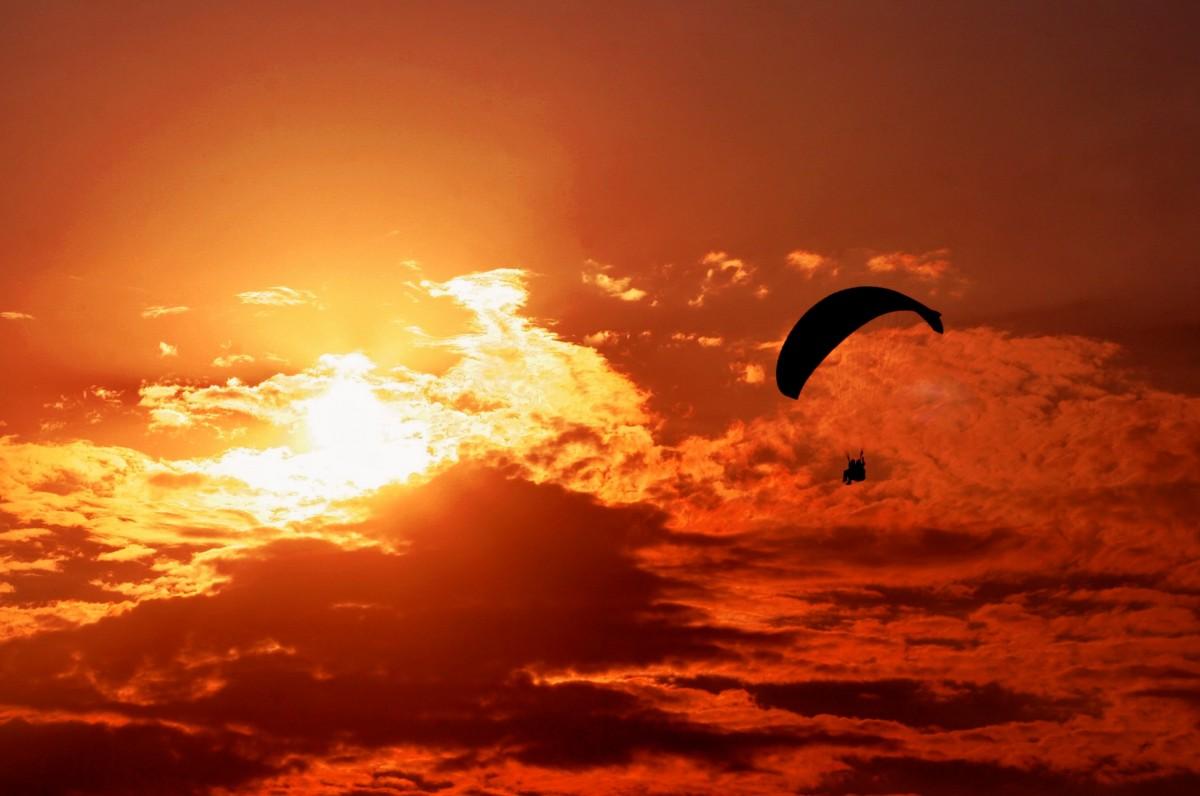 Free Images : silhouette, cloud, people, sky, sun, woman, sunrise, sunset, sport ...