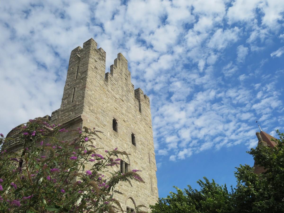 Fotos gratis : paisaje, rock, cielo, edificio, castillo