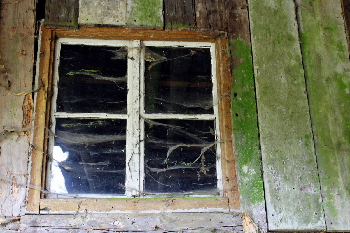 Images gratuites maison mur fa ade araign e toiles d for Toile de fenetre