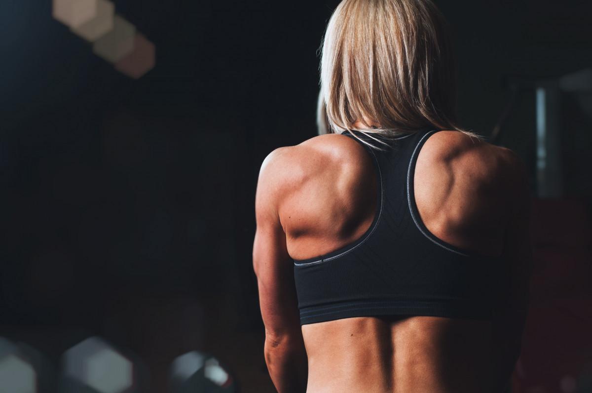la personne fille femme sport tronc bras aptitude muscle poitrine corps humain arrière la musculation fort abdomen épaules muscles sens Musculation forme physique Sous-vêtement actif Biceps curl