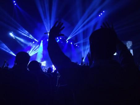 music,crowd,concert,darkness,laser,rave