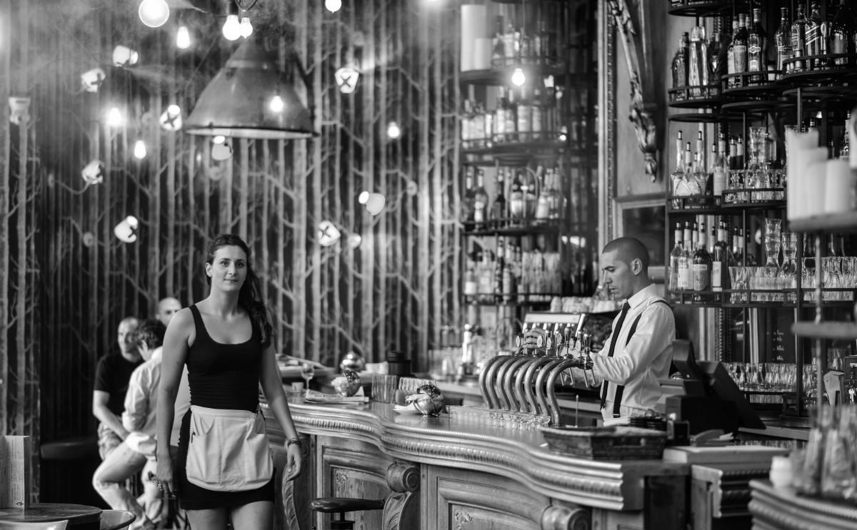 Images Gratuites Noir Et Blanc Architecture R Tro Int Rieur Restaurant Repas Meubles