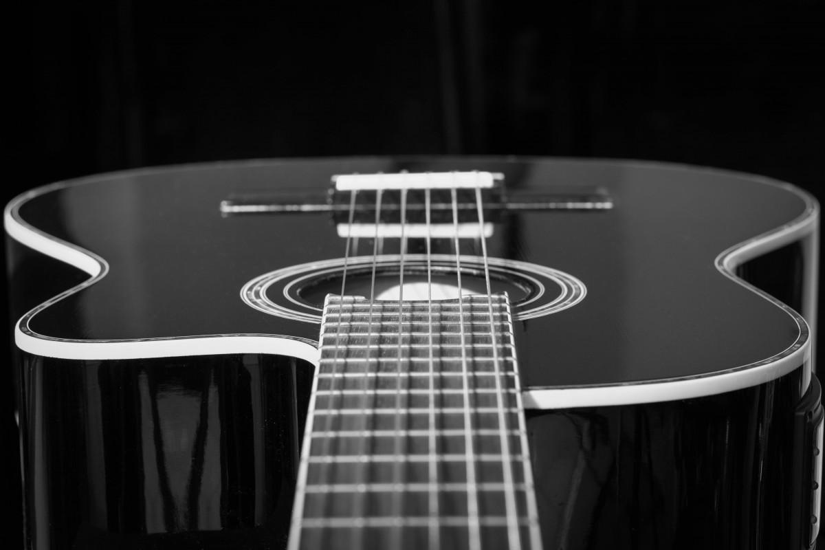Images Gratuites : la musique, noir et blanc, guitare ...