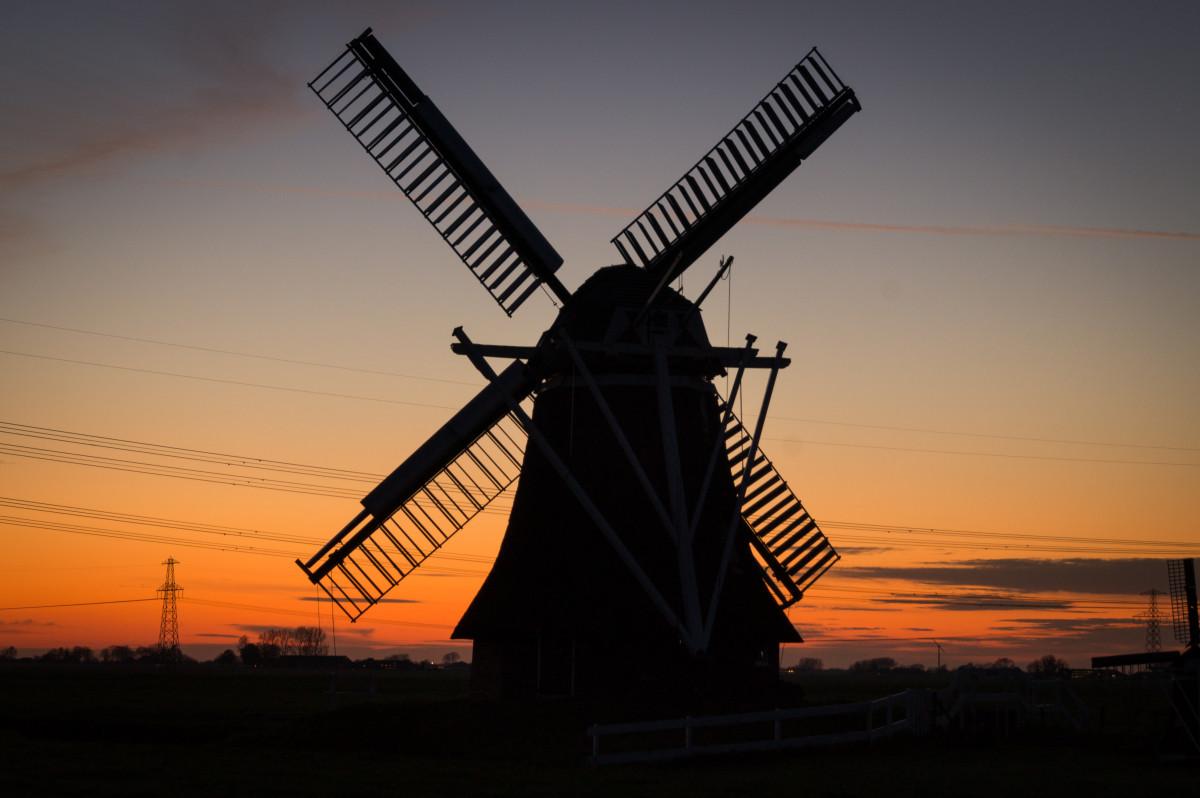 siluet gündoğumu gün batımı fırıldak rüzgar bina şafak akşam karanlığı Alacakaranlık Makine enerji Değirmen Miller