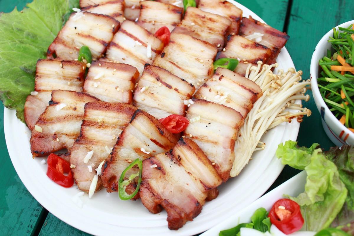 Images gratuites plat repas aliments salade produire - Accompagnement poisson grille barbecue ...